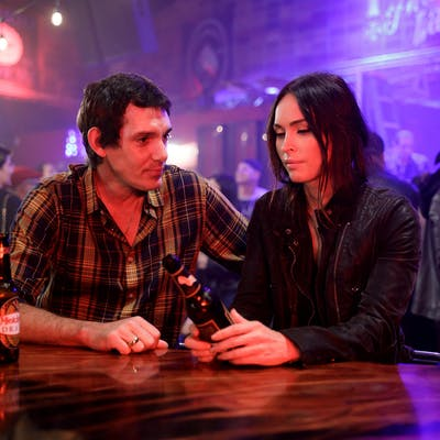 Lukas Haas and Megan Fox in Midnight in the Switchgrass.