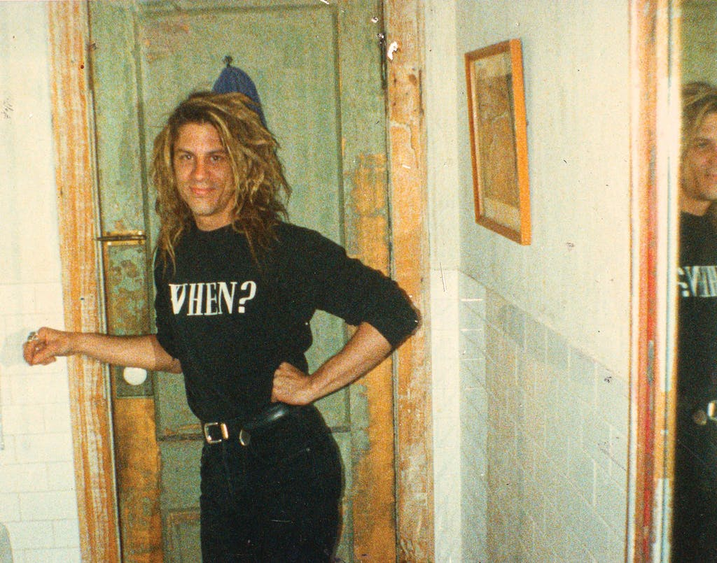 Basinski in Arcadia, the Brooklyn art space and home where he lived with his partner, James Elaine, circa 1990.