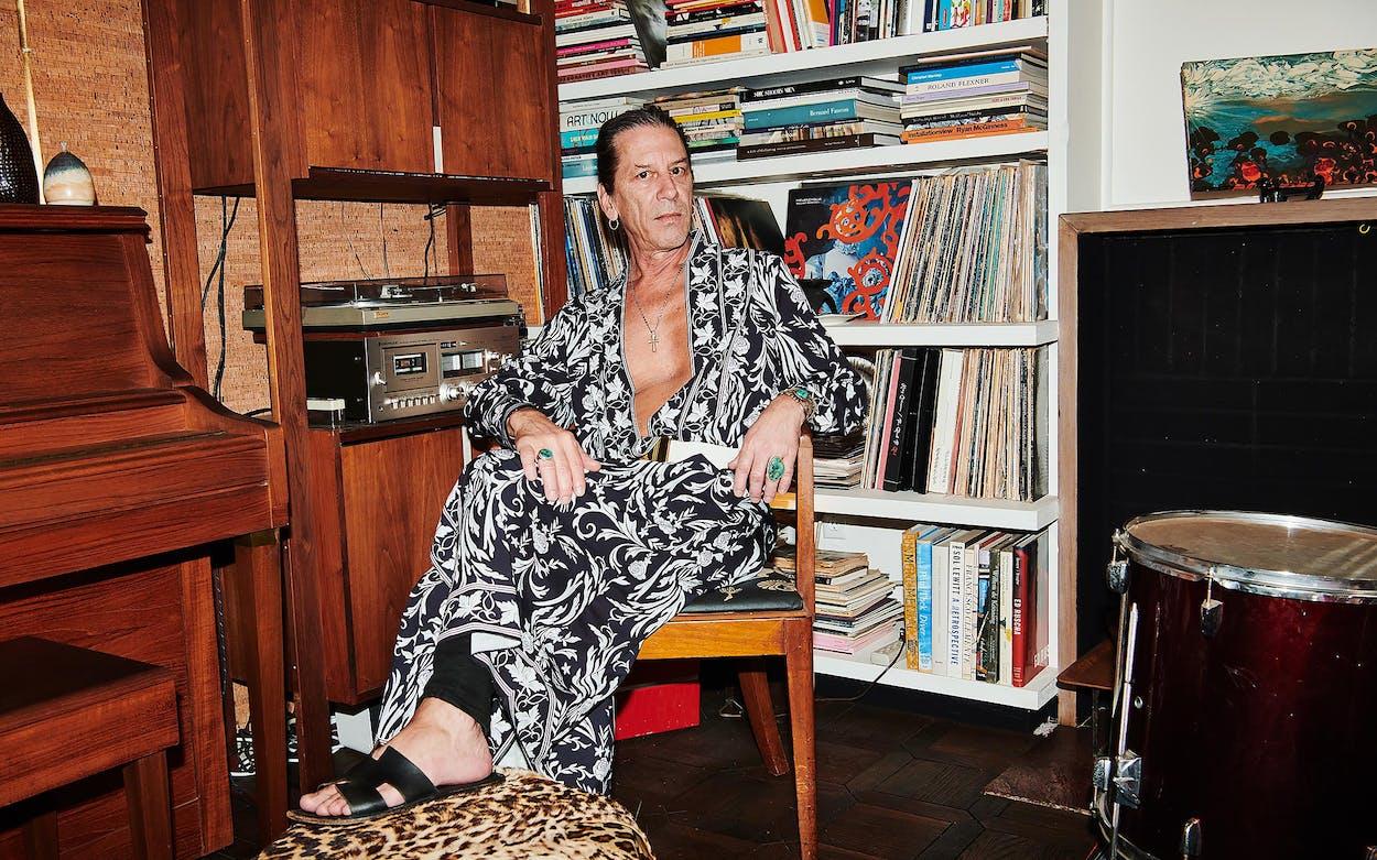 William Basinski at his home, in Reseda, California, on July27, 2021.