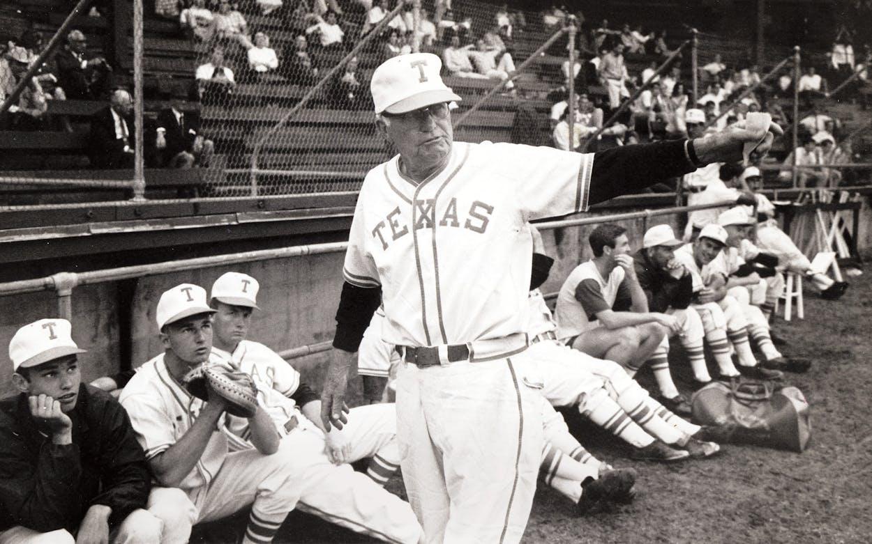 University of Texas Baseball Coach Bibb Falk in the 1960s.