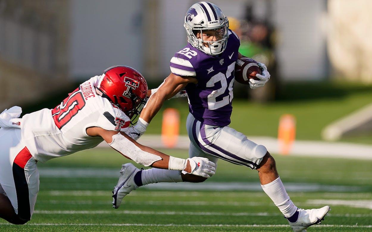 Deuce Vaughn Kansas State Wildcats Running Back with Texas Roots