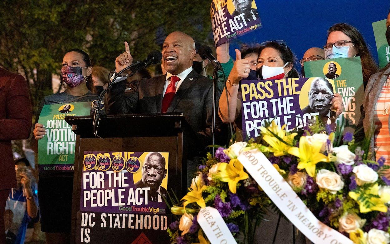 Texas Democrats in DC Carl Sherman