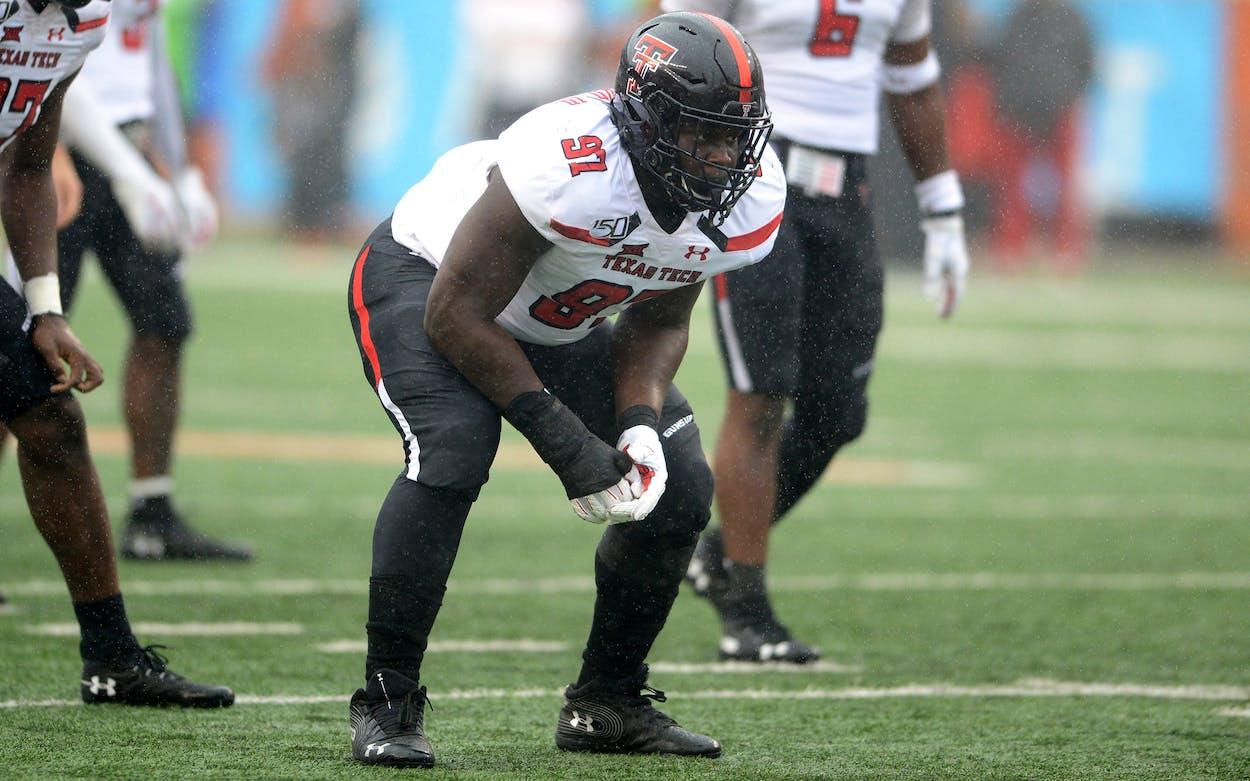 Texas Tech Red Raiders DT Tony Bradford.