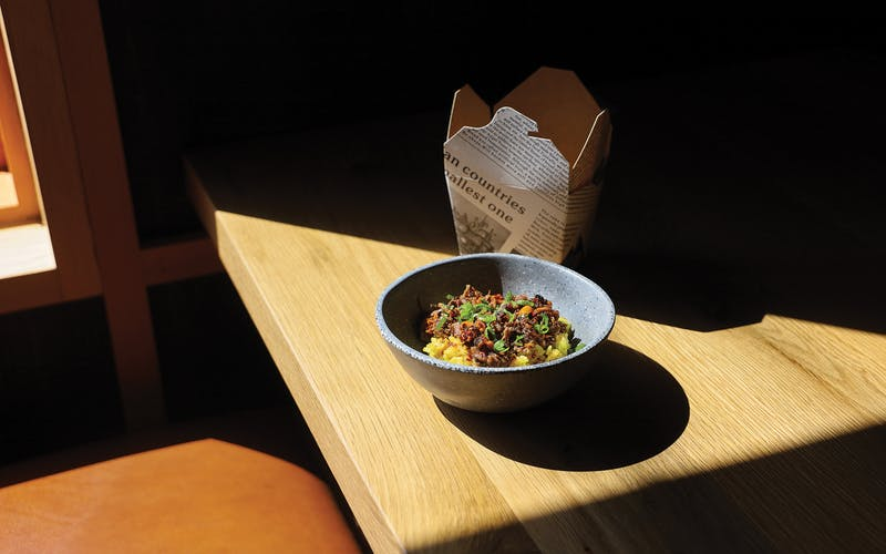 The curried brisket rice at Loro in Dallas.