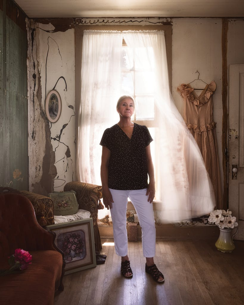 Erin Ghedi in a room at the Magnolia where a madam is believed to have been murdered.