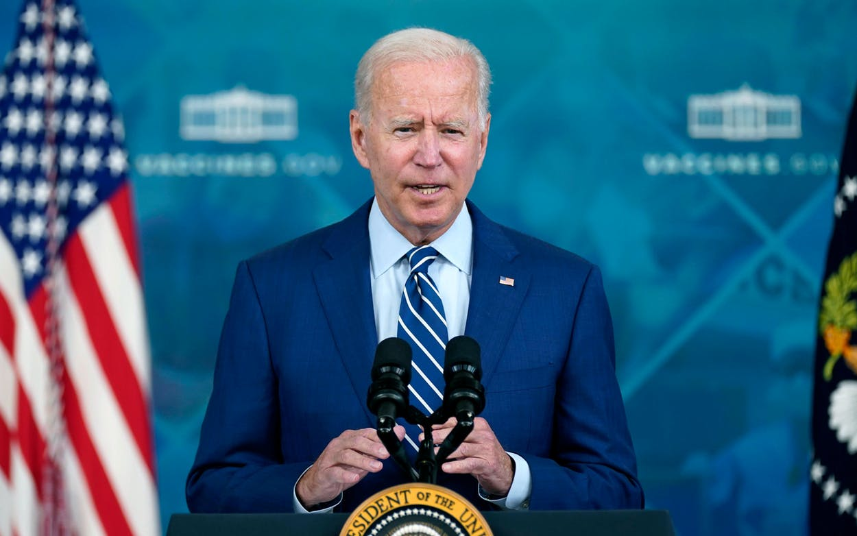 President Joe Biden delivers remarks on COVID-19 during an event in the South Court Auditorium on the White House campus, Monday, Sept. 27, 2021, in Washington.