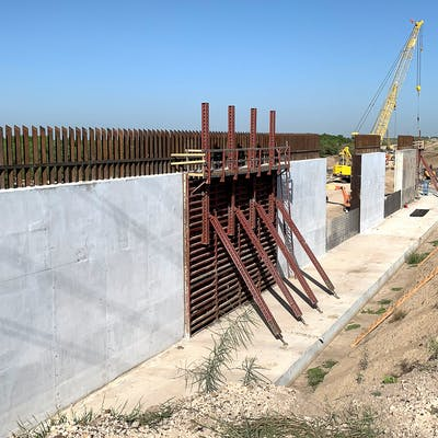 Border Wall Levee Construction Mission