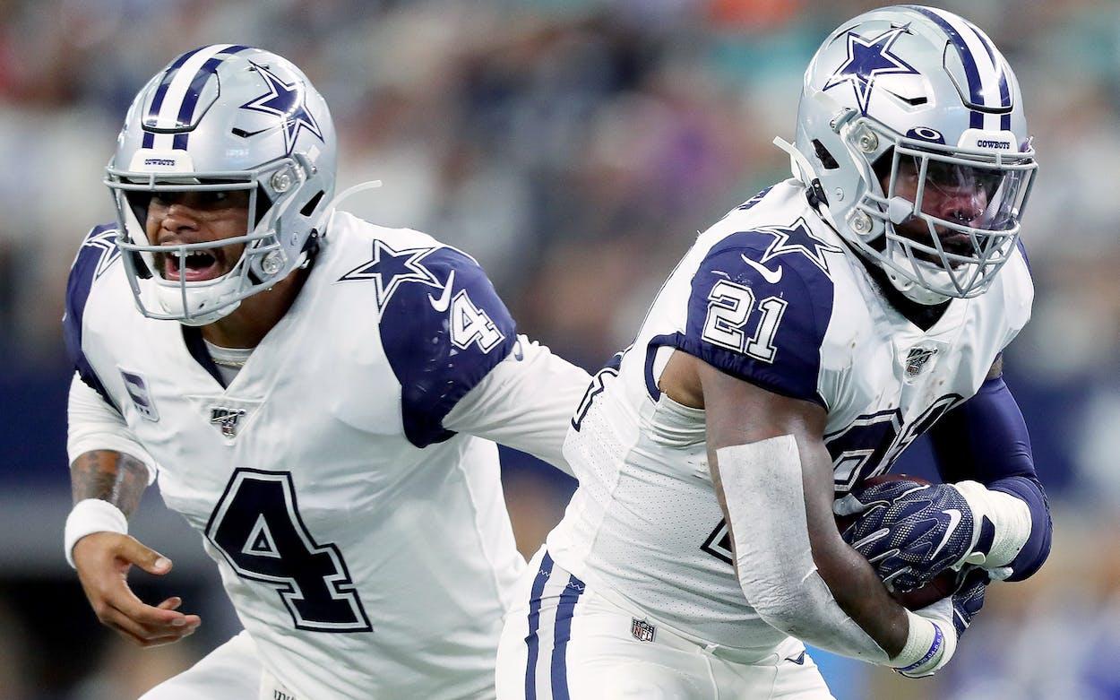 Dallas Cowboys Dak Prescott Ezekiel Elliott