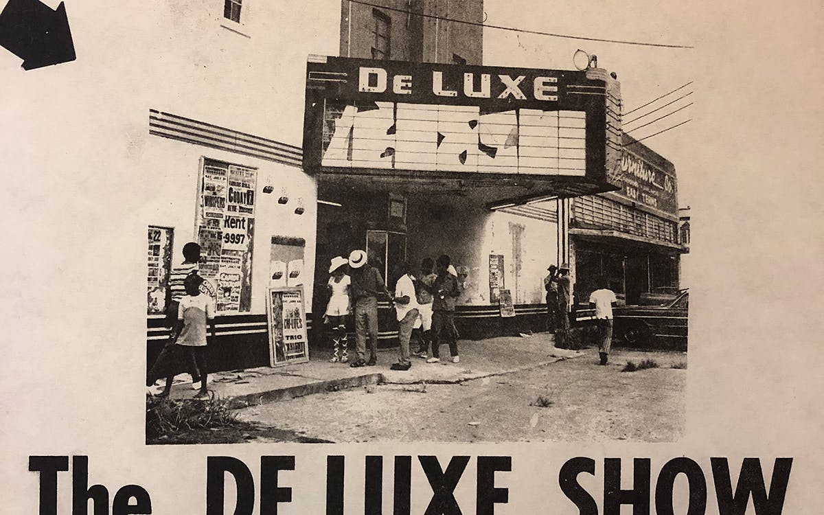 1971 The Deluxe Show flyer