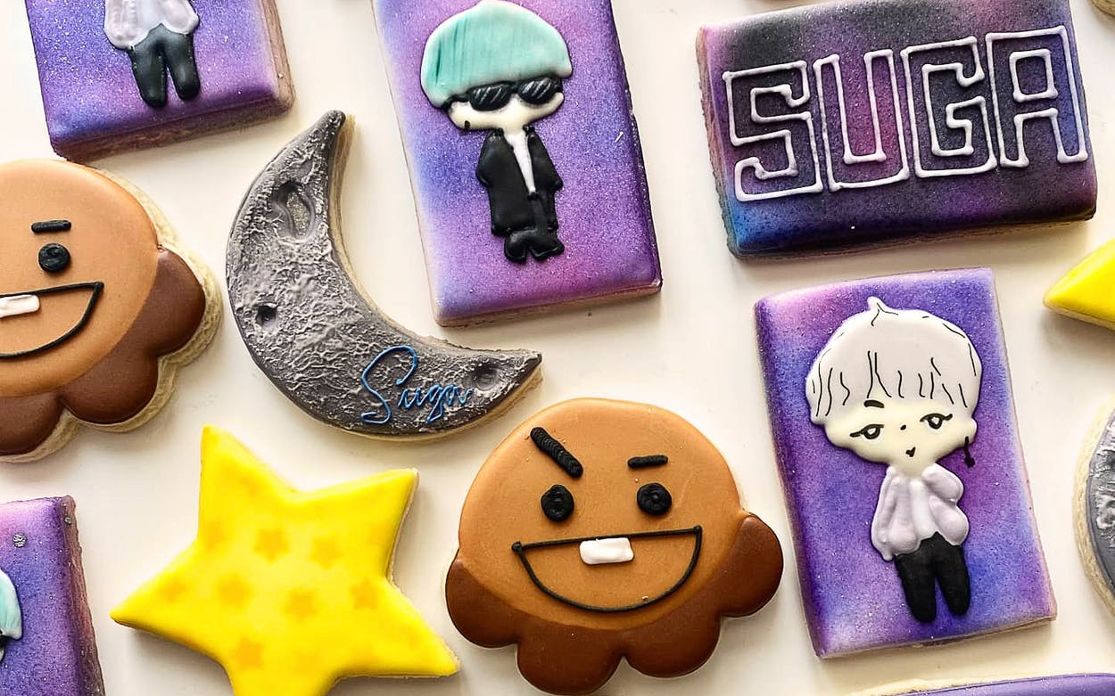 SUGA themed cookies at Popfancy.