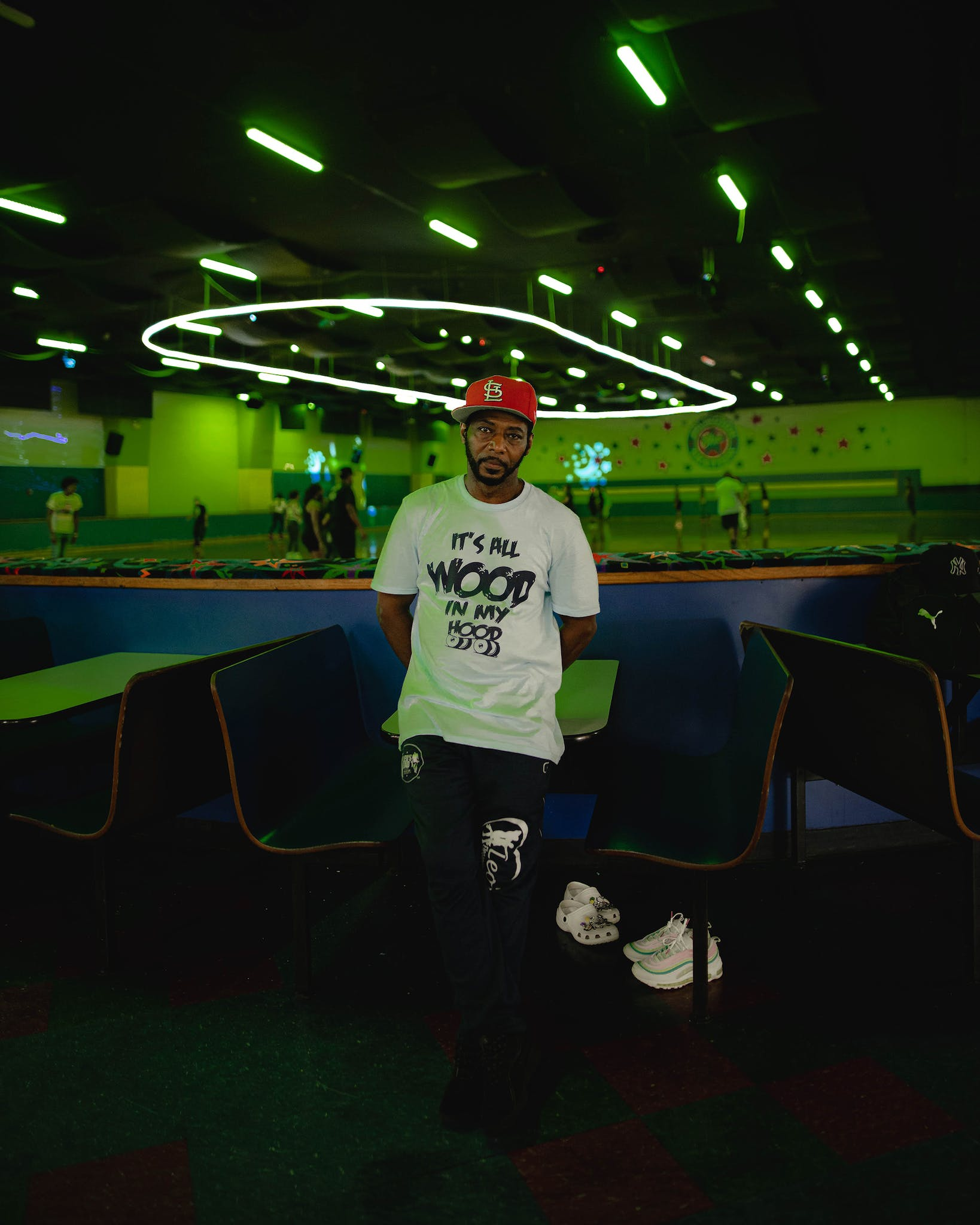 Leo White, famous for his ballroom skating, came from St. Louis for the Skate Jam.
