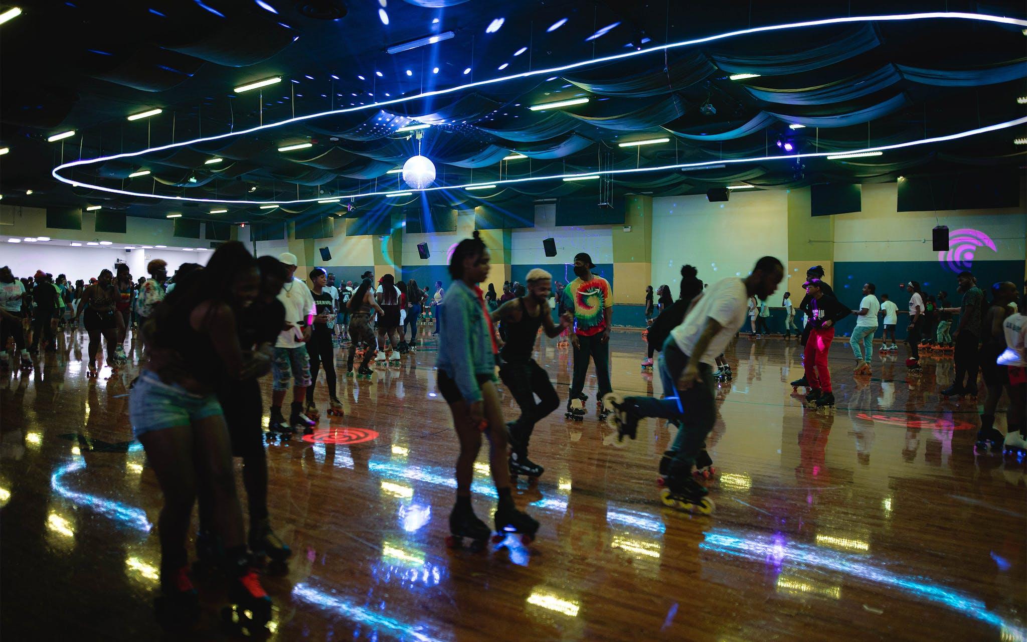 The Skate Jam at Arlington Skatium, outside of Dallas, on August 14, 2021.