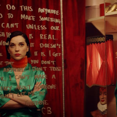 St. Vincent as herself in Bill Benz's 'THE NOWHERE INN.'
