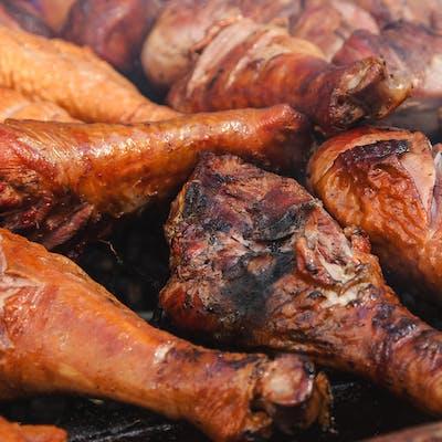 Grilled Turkey Legs on Grill