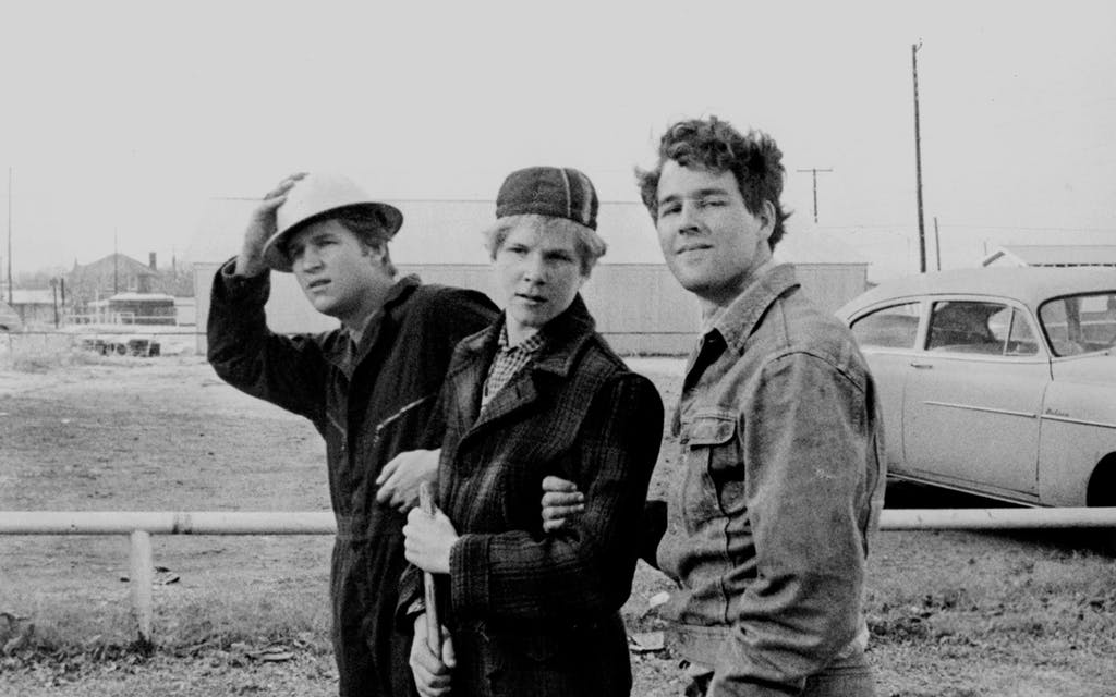 From left: Jeff Bridges as Duane, Sam Bottoms as Billy, and Timothy Bottoms as Sonny in The Last Picture Show.