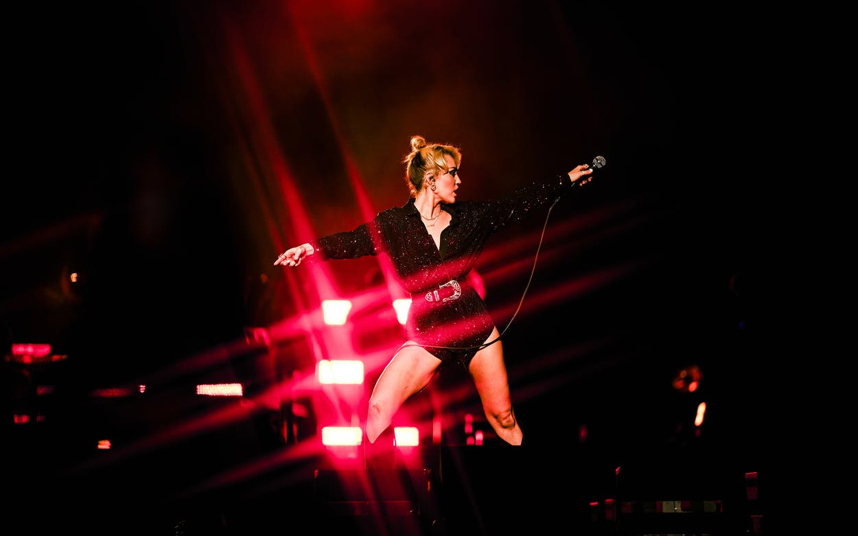 Miley Cyrus during Weekend 2 at ACL 2021