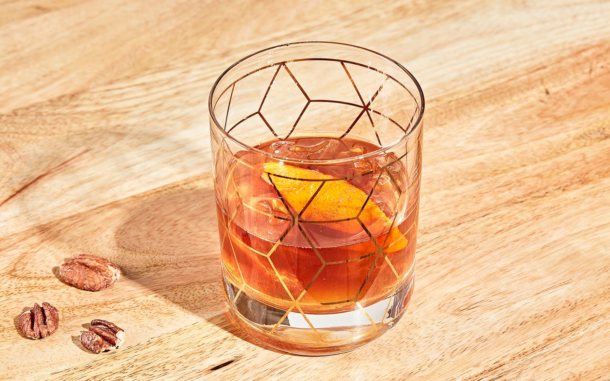 Pecan Old Fashioned Cocktail