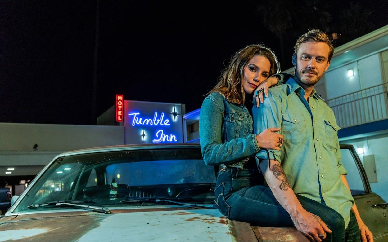 Sophia Bush and Michael Dorman in Hard Luck Love Song.
